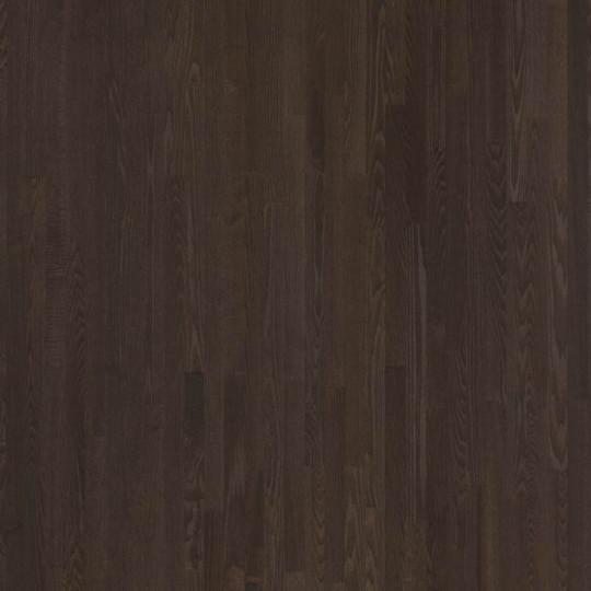 Паркетная доска Floorwood (Флорвуд) Ash Madison dark brown Matt Lac 3s