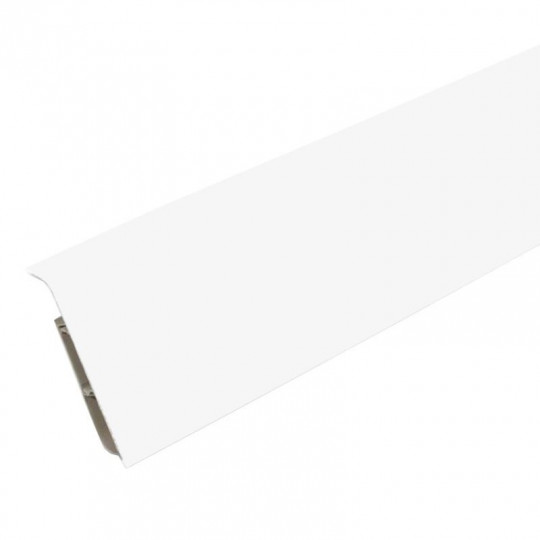 Плинтус ПВХ Ideal Система Белый глянцевый 001-G