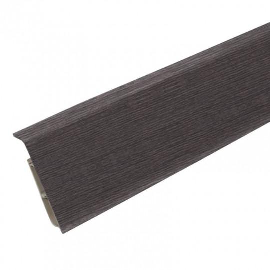 Плинтус ПВХ Ideal Система Каштан серый 352
